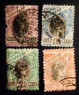 1897 Brésil 4 Timbres Oblitérés ALLEGORY - Brésil