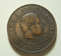 Portugal 20 Reis 1892 A - Portugal