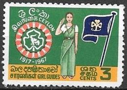 1967 Girl Guide, 3 Cents, Mint Hinged - Sri Lanka (Ceylon) (1948-...)