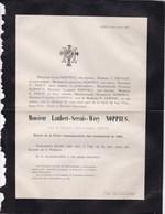 LIEGE REVOLUTION 1830 Lambert-Servais NOPPIUS Veuf DUBOIS 84 Ans 1879 Décoré Croix Combattants 1830 HENNIN NISET - Décès
