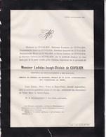 LIEGE REVOLUTION 1830 Ladislas De CUVELIER 64 Ans 1883 Décoré Croix Combattants De 1830 - Décès