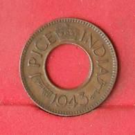 INDIA 1 PICE 1943 -    KM# 533 - (Nº26909) - Inde