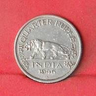 INDIA 1/4 RUPEE 1946 -    KM# 548 - (Nº26910) - Inde