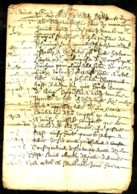 """1670 - Acte Manuscrit (""""""""Cense"""""""" = Fermage) Sur 8 Pages - Documents Historiques"""