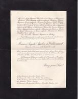 TOULON Auguste ASSELIN De WILLIENCOURT 73 Ans 1937 Directeur De La Société Générale Lettre Mortuaire 2 Volets Complets - Décès