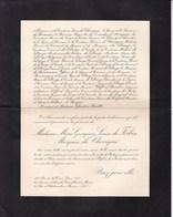 PARIS Marie Georgina De FORBIN Marquise De CHEVIGNE 72 Ans 1938 Lettre Mortuaire En 2 Volets Complets - Décès