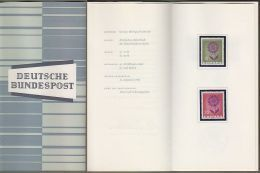 "Bund + Europa / Europe Cept: Minister Card - Ministerkarte Typ III, Mi-Nr. 445-46 ** U. ESST: "" Europa 1964 "" R !  X - BRD"