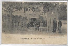13 GRAVESON . Hôtel Du Petit Saint-Jean , édit : Aug Louis , Années 1900 , état Extra - France