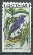Mali Poste Aérienne YT N°2 Oiseau Merle Améthyste Oblitéré ° - Mali (1959-...)