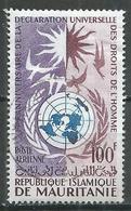 Mauritanie Poste Aérienne YT N°33 Déclaration Universelle Des Droits De L'homme Oblitéré ° - Mauritania (1960-...)