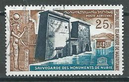 Mauritanie Poste Aérienne YT N°38 Sauvegarde Des Monuments De Nubie Oblitéré ° - Mauritania (1960-...)
