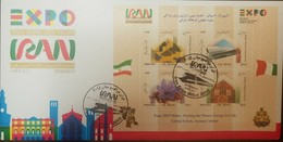 L) 2015 IRAN, EXPO 2015 MILAN - FEEDING THE PLANET, ENERGY FOR LIFE, GLOBAL SOFREH, IRANIAN CULTURE, FLOWERS, FLAAG, ARC - Iran