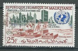 Mauritanie Poste Aérienne YT N°22 Admission à L'O.N.U. Oblitéré ° - Mauritania (1960-...)