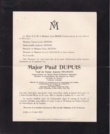 SAINT-NICOLAS-WAAS Paul DUPUIS époux DELHAYE Conservateur Au Musée Royal D'Histoire Naturelles Ixelles 1869-1931 - Décès