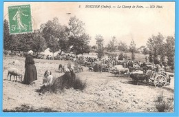 36- EGUZON - INDRE En BERRY - FOIRE AUX MOUTONS VERS 1907 - BON ETAT - France
