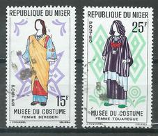 Niger YT N°128-130 Musée Du Costume Oblitéré ° - Niger (1960-...)
