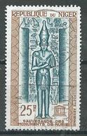 Niger Poste Aérienne YT N°38 Sauvegarde Des Monuments De Nubie Oblitéré ° - Níger (1960-...)