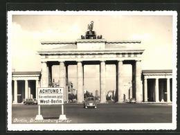 AK Berlin, Grenze Am Brandenburger Tor - Zoll