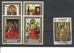 FUJEIRA 1972/ TABLEAUX  Lot Vrac De 5 Timbres (dont 1 Offert) Oblitérés :  Van Eyck, Etc... - Fujeira