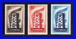 1956 - Luxemburgo - Sc 318 / 320 ** - Europa 1956 - Gran Lujo - Perfectos - MNH - LU- 088 - 02 - Luxembourg
