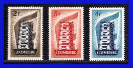 1956 - Luxemburgo - Sc 318 / 320 ** - Europa 1956 - Gran Lujo - Perfectos - MNH - LU- 088 - 03 - Luxembourg
