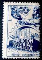 Viñeta Exposición Industrial De Galicia 1944. - España