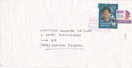 "ENVELOPPE CIRCULEE CIRCA 2000s L'ARGENTINE PRIVATE MAIL ""OCA"" STAMP DIEGO ARMANDO MARADONA - BLEUP - Argentina"