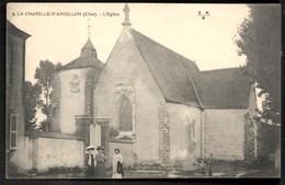 La CHAPELLE D'ANGILLON L' Eglise Petite Animation CPA Ecrite Mais TBE - France
