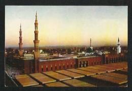 Saudi Arabia Picture Postcard Holy Mosque Madinah View Card - Saudi Arabia