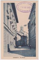 1081/ GROSSETO Via Manin (bollo Grand Hotel Bastiani, 1933). Non écrite. Unused. No Escrita. Non Scritta. - Grosseto