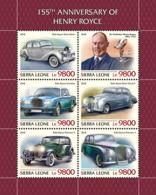 Sierra Leone  2018  Henry Royce Cars   S201811 - Sierra Leone (1961-...)