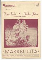 Program * Portugal * Nº38 * 1954 * Monumental * Marabunta - Programmi