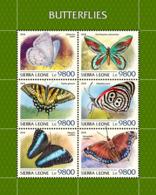 Sierra Leone  2018  Butterflies Fauna  S201811 - Sierra Leone (1961-...)