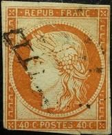 FRANCE Y&T N°5a Cérès 40c Orange Vif Oblitéré Côte 600 Euros - 1849-1850 Ceres