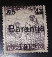 TRANSYLVANIA ROMANIA 1919 OCCUPATION , Overprint BARANYA , 15 Filler - Transylvanie