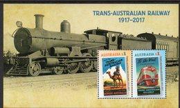 AUSTRALIA, 2017 TRANS-AUSTRALIAN RAILWAY MINISHEET MNH - 2010-... Elizabeth II