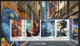 AUSTRALIA, 2017 STREET ART MINISHEET MNH - 2010-... Elizabeth II