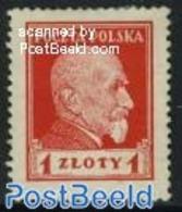 Poland 1924 S. Wocjciechowski 1v, (Unused (hinged)), History - Politicians - 1919-1939 Republic