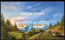 NORFOLK Is, 2018 CRUISE SHIPS MINISHEET MNH - Norfolk Island