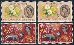 Great Britain 393-394,293p-394p,MNH.Mi 357-358,y National Nature Week,1963. - 1952-.... (Elizabeth II)