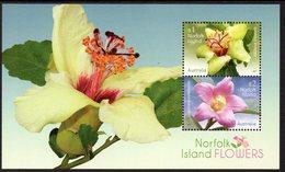 NORFOLK Is, 2017 FLOWERS MINISHEET MNH - Isola Norfolk