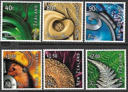 New Zealand  2001    Sc#1708-13   Natures Art Set  MNH  2016 Scott Value $8.30 - New Zealand
