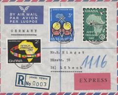 Ghana: Registered James Town, Express 1961 To Lübeck - Ghana (1957-...)