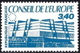 France 1986 - Official : Building Of The Council Of Europe ( Mi CE 42 - YT S95 ) MH* - Service