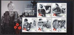 AUSTRALIA, 2017 WOMEN IN WAR MINISHEET MNH - Nuovi