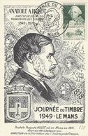 1949- C P De Chelet  Affr. N° 852 Oblit. JOURNEE DU TIMBRE * LE MANS * - Marcophilie (Lettres)