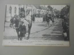 BELGIQUE ANVERS PUTTE FEUWFEEST,EUGEEN DE PRETER, 2 JULI 1914 PRAALSTOET EEREWACHTEN TE PAARD - Putte