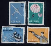 North Vietnam Viet Nam MNH Perf Stamps 1964 : Military Games / Parachuting / Gliding / Shooting / Rowing (Ms151) - Vietnam