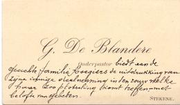Visitekaartje - Carte Visite - Onderpastoor G. De Blandere - Stekene - Cartes De Visite