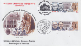 Enveloppe  FDC   1er  Jour    FRANCE - MONACO   Emission  Commune    2010 - Emissions Communes